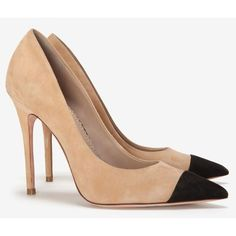 Jean-Michel Cazabat Two Tone Suede Pointy Toe Pump ($298) ❤ liked on Polyvore