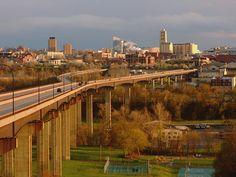 Akron Ohio Y  Bridge by Dennis Deitrick, via Flickr