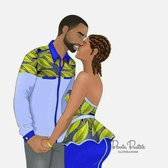 4 Factors to Consider when Shopping for African Fashion – Designer Fashion Tips Art Black Love, Black Couple Art, Sexy Black Art, Black Love Couples, Black Girl Art, Black Girl Magic, Black Girls, Black Women, Black Girl Cartoon