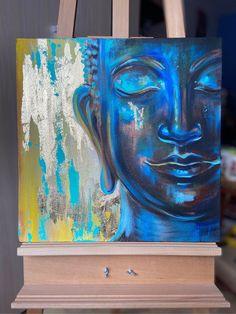 Buddha Canvas, Buddha Wall Art, Pintura Zen, Arte Hippy, Budha Painting, Canvas Painting Designs, Mini Canvas Art, Indian Art Paintings, Spiritual Paintings