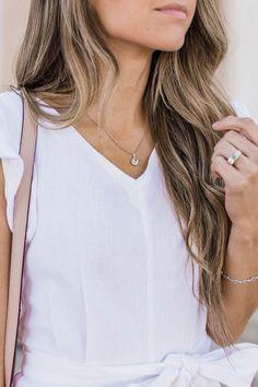 round aquamarine pendant necklace from shane co. | merricksart.com