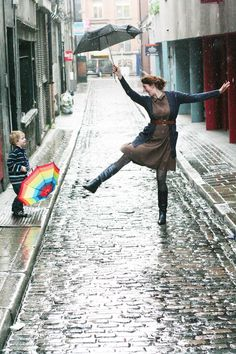 dancing in the rain (by Mighty Girl http://mightygirl.com/2011/12/08/laughing-at-clouds/)