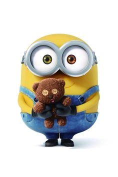 Bob the minion & teddy bear wallpaper