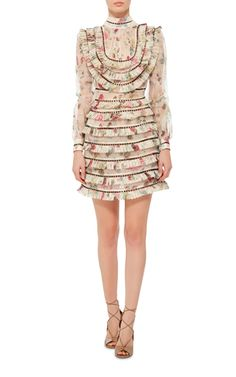 Totally gorgeous --- and only $2600 !!  Mischief Floral Silk Mini Dress by ZIMMERMANN Now Available on Moda Operandi