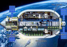 spaceexp: Interior of the Olympus B-2100 habitat as supplied by Bigelow. via reddit