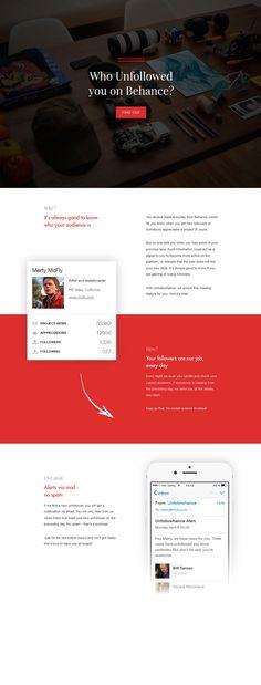 Unfollowhance - Flat Design Website