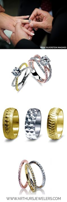 Mark Silverstein Imagines see his entire collections of engagement rings, sports wedding bands, and ladies diamond bands at Arthur's Jewelers. Ugh!!! Love the one at the top right!