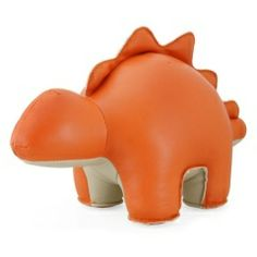 Orange Stegosaurus.