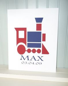 Custom Print TRAIN Boys Room Nursery Kids Children by IAdoreDecor, $14.00