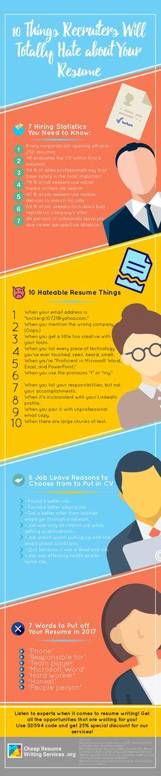 Resume Checklist 2016 Education Infographics Pinterest Template - resume mistakes