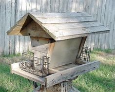 Making a barn wood bird feeder is a great way to recycle or reclaim old wood and feed your garden visitors at the same time.