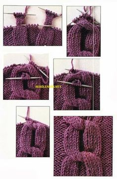 Tutorial for Crochet, Knitting, Crafts. Knitting Stiches, Cable Knitting, Knitting Yarn, Free Knitting, Crochet Stitches, Yarn Projects, Knitting Projects, Crochet Projects, Knitting Patterns