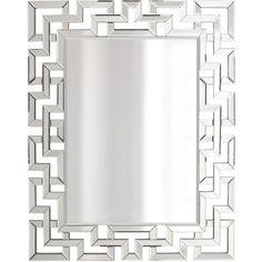 Greek-Key Mirror ($575) ❤ liked on Polyvore featuring home, home decor, mirrors, fillers, frames, furniture, borders, pattern, picture frame and greek key mirror