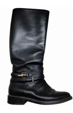 #Balenciaga Bottes Cavalières Cuir noir 37 #boots #black #leather #kollas #kollasshop