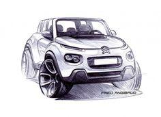 Citroen E-Mehari - Design Sketch by Fred Angibaud