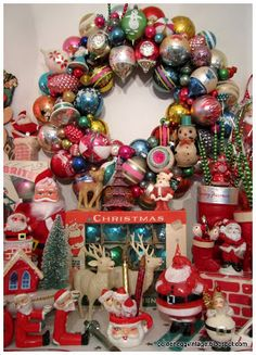 Look around our old Christmas ornaments, come across Festive tree additions which get guaranteed to become members of the family souvenirs. Old Christmas, Antique Christmas, Merry Little Christmas, Vintage Christmas Ornaments, Vintage Holiday, Christmas Holidays, Christmas Wreaths, Christmas Crafts, Christmas Ideas