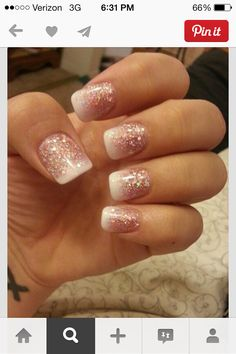 Pretty sparkle nails hoping my nails turn out this good!