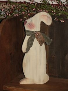 Wooden Spring Items- Very cute bunny...don't usually see patterns with them standing like this.