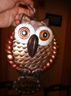 Owl resin handmade with polymer resins by Sonia Elia Creations Artists'