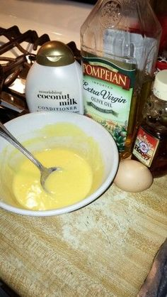 Pre poo protein Treatment  1 egg, a tablespoon of honey, 2 tablespoon of olive oil and your favorite conditioner. Try it out!!!!
