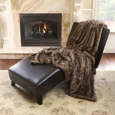 Coyote Faux Fur 58x60-inch Throw Blanket   Overstock.com Shopping - The Best Deals on Throws