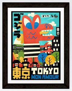 Tokyo Mon Amour - A3 Print