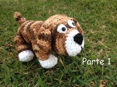 Cachorro Dog em crochê / Parte 1 - Professora Maria Rita - YouTube