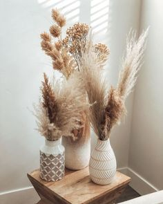 Summer decor ideas: pampas grass Dried Flower Arrangements, Dried Flowers, Deco Studio, Grass Decor, Pampas Grass, Aesthetic Rooms, Boho Decor, Tribal Home Decor, Room Inspiration