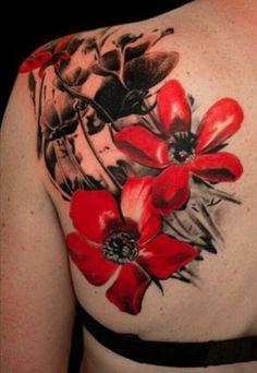 poppy tattoos | Blue Poppies Tattoo
