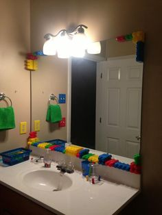 Lego Bathroom I Did For My 3 Yr Old Son