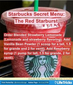 Starbucks Secret Menu: The Red Starburst
