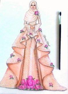 Trendy Design Dresses Drawing Muslim 32 Ideas Source by ideas drawing Dress Design Drawing, Dress Design Sketches, Fashion Design Drawings, Dress Drawing, Fashion Sketches, Wedding Dress Sketches, Fashion Drawing Dresses, Fashion Illustration Dresses, Fashion Sketchbook