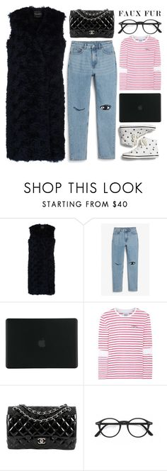 """""""faux vest"""" by foundlostme ❤ liked on Polyvore featuring Erika Cavallini Semi-Couture, Monki, Tucano, Zoe Karssen, Chanel and fauxfur"""