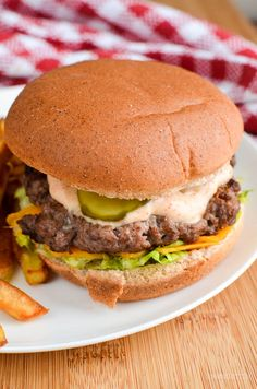 Syn Free Big Mac and Fries Fakeaway - enjoy your favourite fast food meal, with this healthier Slimming World friendly version