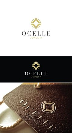 Second revision: Re-processed logo design concept for Ocelle Jewelry Store.