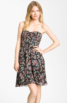 Fynn & Rose Strapless Floral Dress  http://shop.nordstrom.com/s/fynn-rose-strapless-floral-dress/3319970?origin=category=0==443
