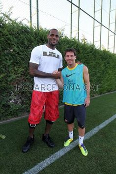 Lebron & Messi. There's just something about those little soccer players that I love :) Messi you the man!