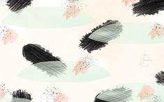 Brushstrokes splatter art pastels pink mint black desktop wallpaper background