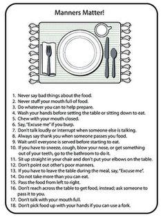 Drives me crazy when parents don't teach children proper table manners.