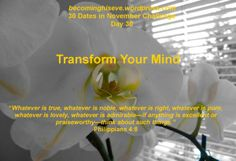 Day 30 Transform Your Mind of 30 Dates in November Challenge from Becoming His Eve