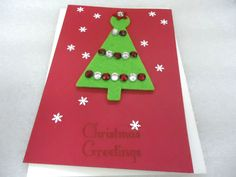 Christmas Tree Handmade Red Christmas Blank by ChicEventsDecor
