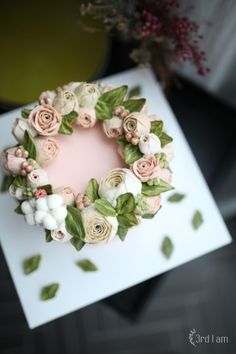 honey pink flower cake : 네이버 블로그