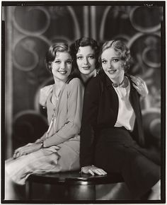 ~Loretta Young, Polly Ann Young and Sally Blane Nickolas Muray (American, born Hungary, 1892–1965) Date: ca. 1930~
