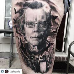 Fun spooky Stephen King tattoo. thefaceinthedark@gmail.com