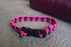 How to make a Paracord dog collar using the Seesaw knot.