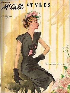 1940s Vintage McCall Pattern Book February Summer  Pattern Catalog 80 Pages