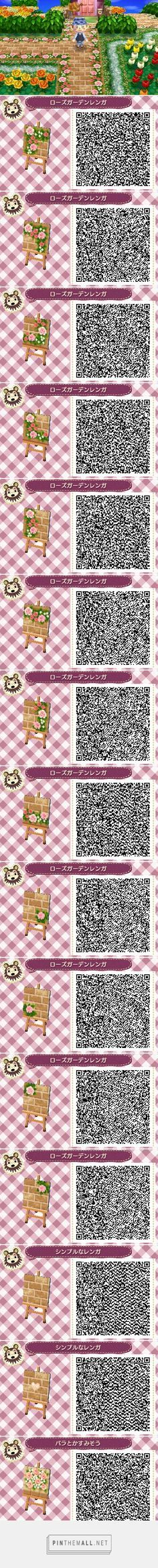 ACNL/ACHHD QR CODE-Brick path with pink roses border and accents