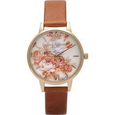 Olivia Burton Watch - Wonderland - Tan Floral (twistedtime.com)