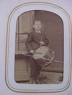 Antique Civil War Era CDV Photograph Album