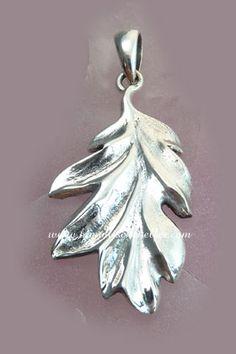 Eichblatt Anhänger Symbol Silber
